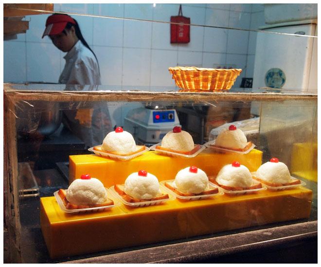 Frittiertes Eis auf Toast, Peking