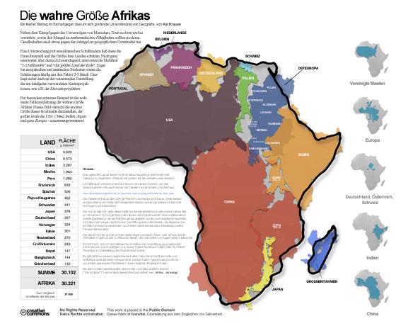 Die wahre Groesse Afrikas, auf Deutsch