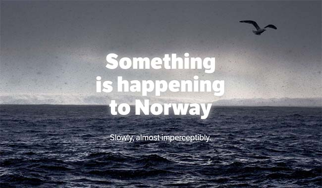 Chasing Climate Change: Something is happening to Norway.