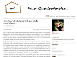 Frau Quadratmeter